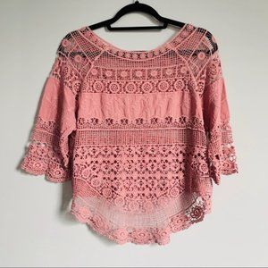 NWOT Knitted Boho Top Size S